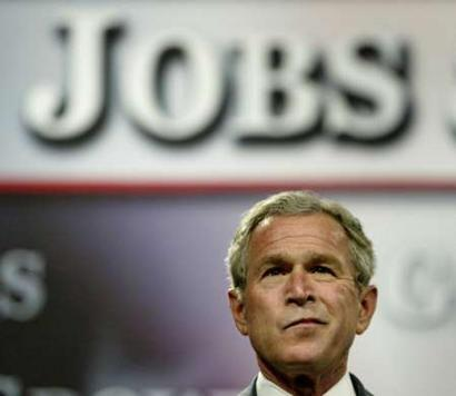 Bush Out in Front of Jobs